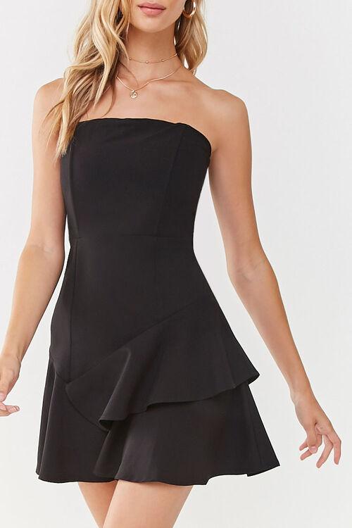 Flounce Hem Mini Dress, image 1
