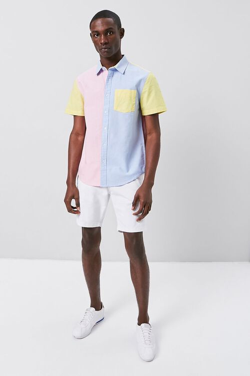 Colorblock Fitted Pocket Shirt, image 4