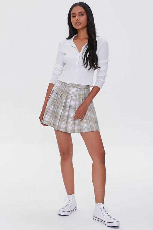 LIGHT GREEN/MULTI Pleated Plaid Mini Skirt, image 5