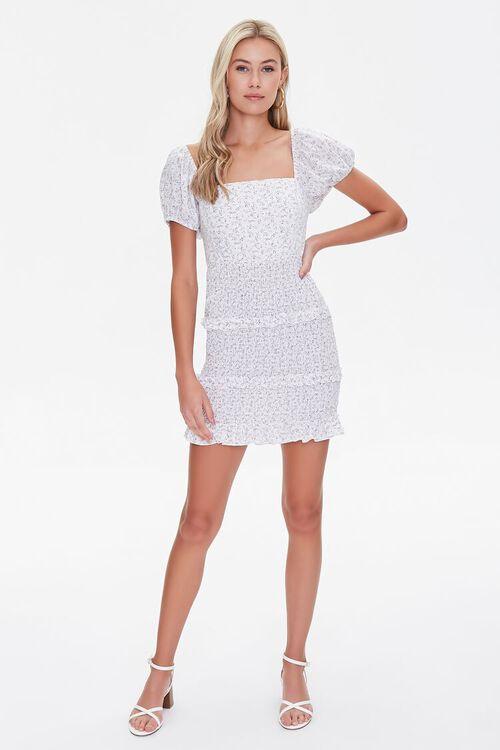 Floral Lace-Back Mini Dress, image 4