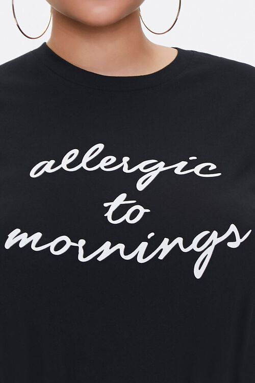 Plus Size Allergic to Mornings Graphic Tee, image 5