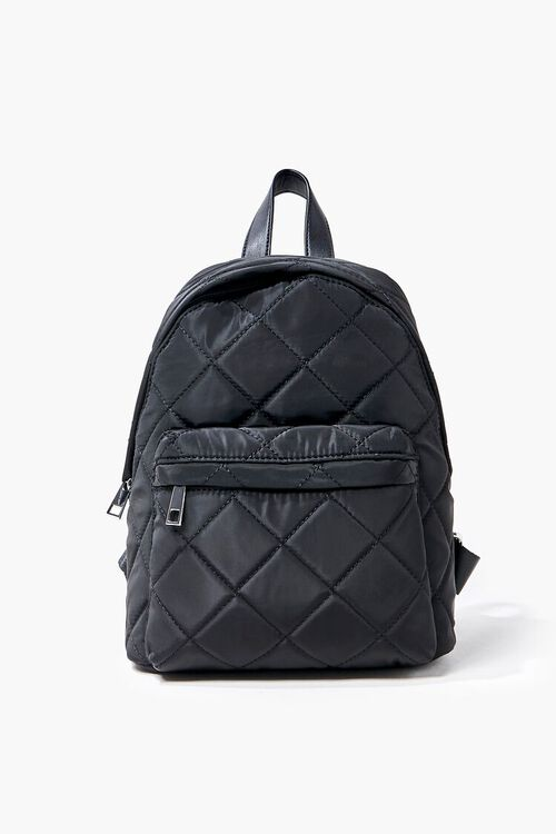 Quilted Zip-Up Backpack, image 1