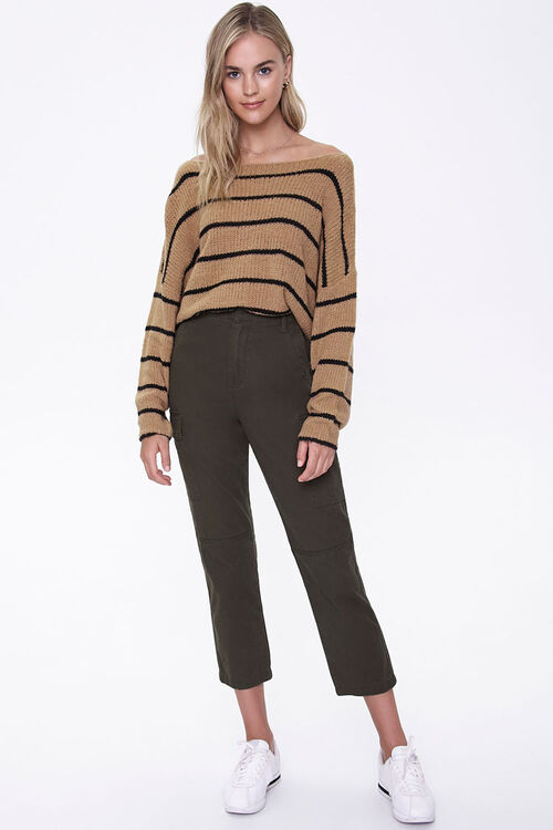 Striped Off-the-Shoulder Sweater, image 4