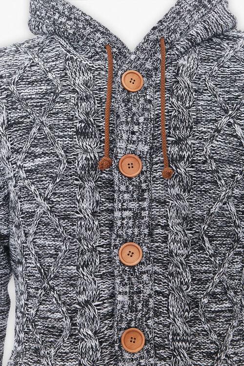 Marled Hooded Cardigan Sweater, image 4
