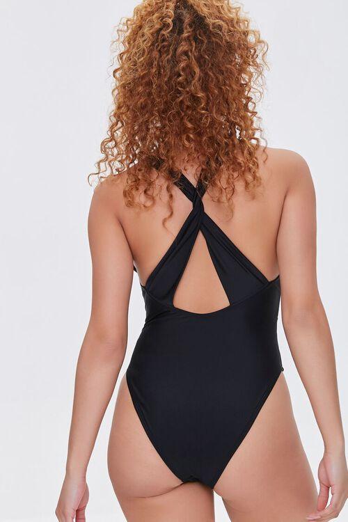 Mesh-Panel One-Piece Swimsuit, image 3