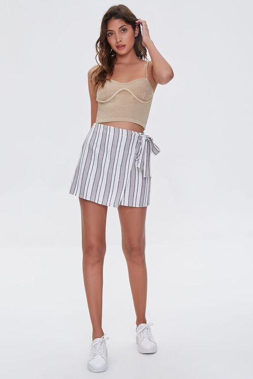 Linen-Blend Striped Skirt, image 5