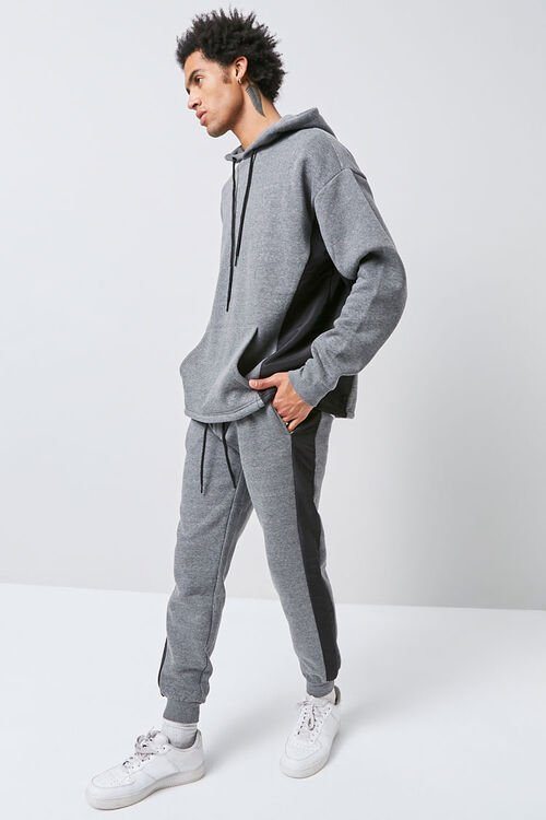 Heathered Colorblock Joggers, image 1
