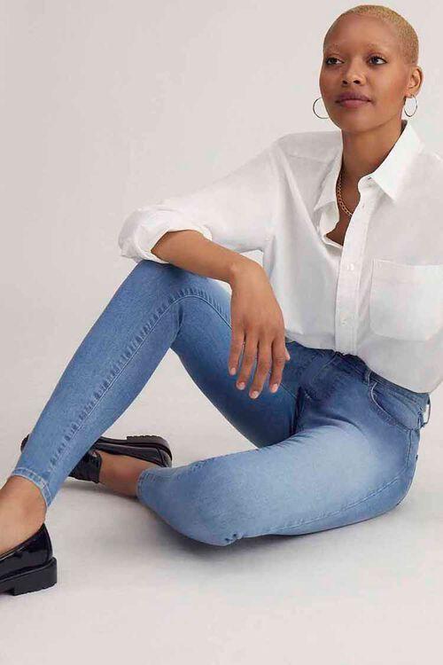 MEDIUM DENIM Essential High-Rise Skinny Jeans, image 1