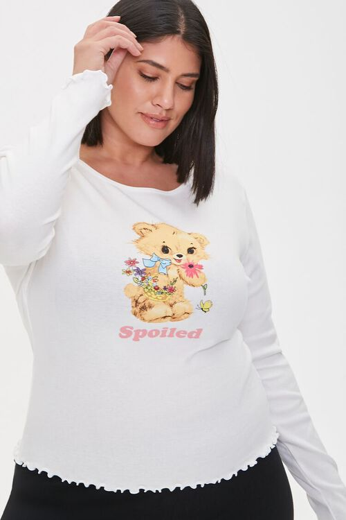 Plus Size Spoiled Graphic Top, image 1