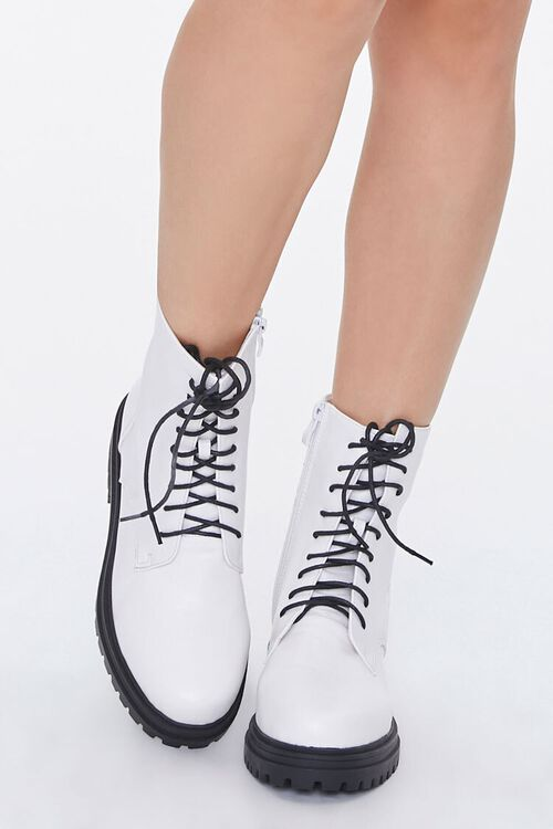 Faux Leather Lace-Up Ankle Boots, image 4