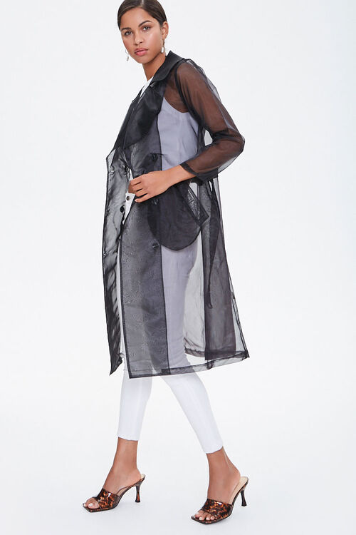 Belted Organza Trench Coat, image 2