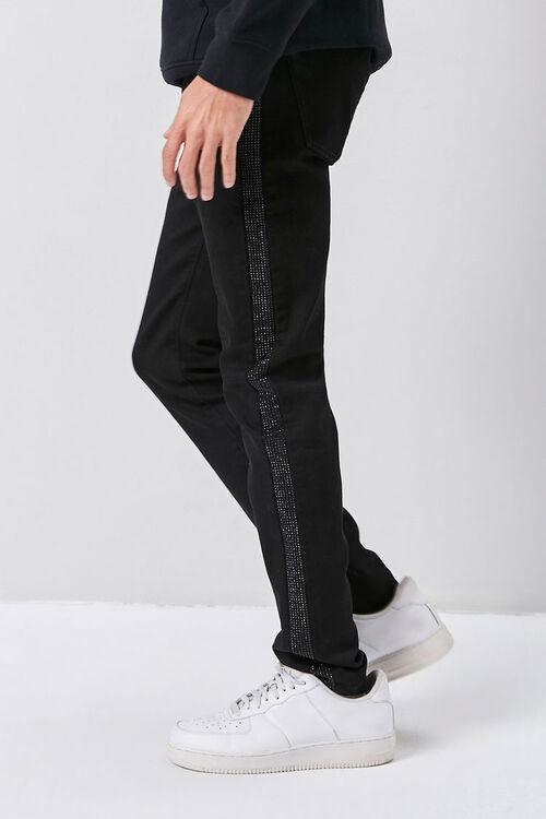 Rhinestone-Trim Skinny Jeans, image 3