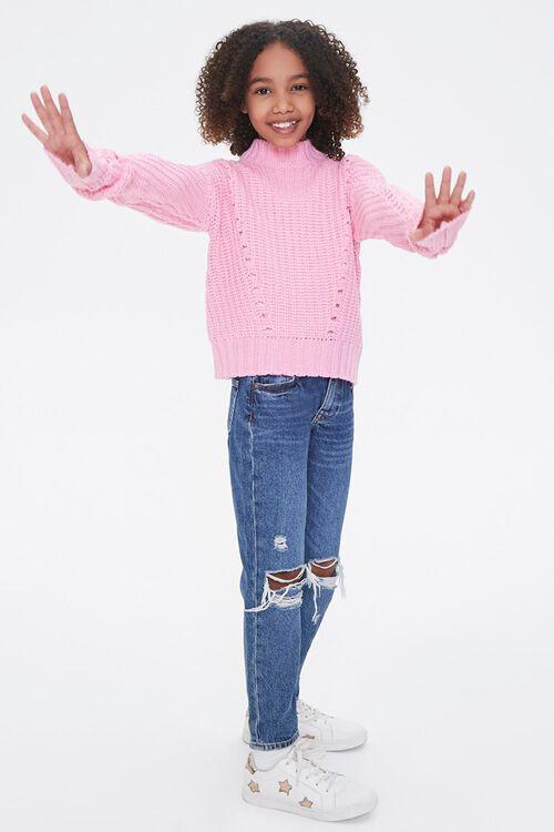 Girls Ribbed Mock Neck Sweater (Kids), image 4