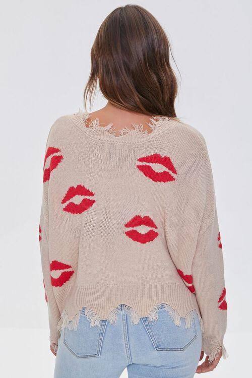 Lipstick Kiss Print Sweater, image 3