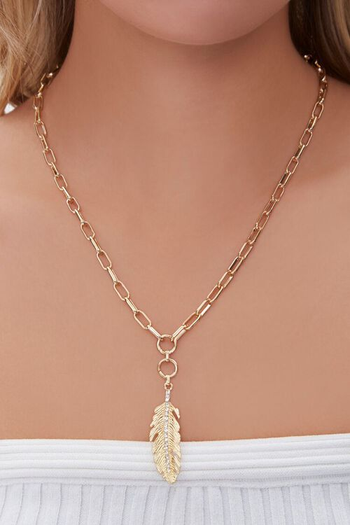 Feather Pendant Necklace, image 1