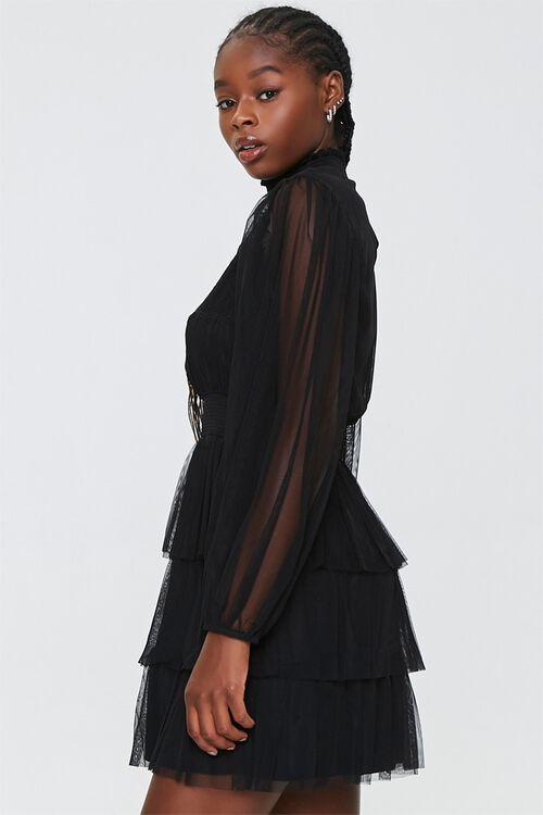 Tiered Mesh Mini Dress, image 2