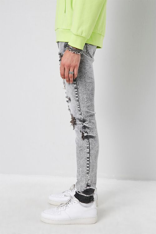 Distressed Bleach Washed Skinny Jeans, image 2