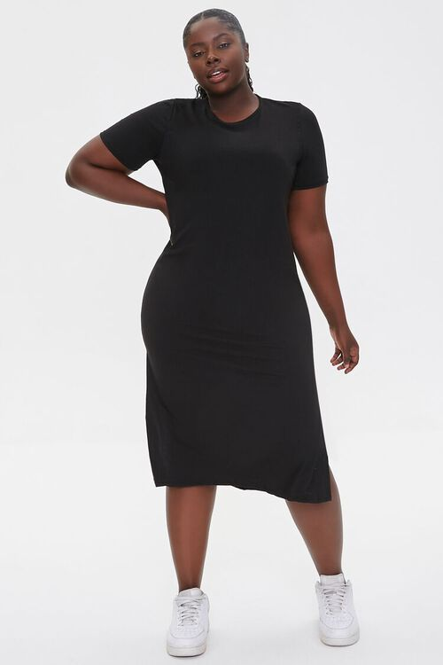 Plus Size Midi T-Shirt Dress, image 4