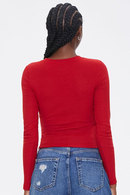 Ribbed Long-Sleeve Top, image 3