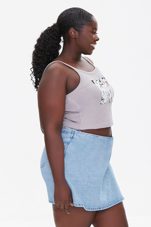 Plus Size MTV Graphic Cropped Cami, image 2