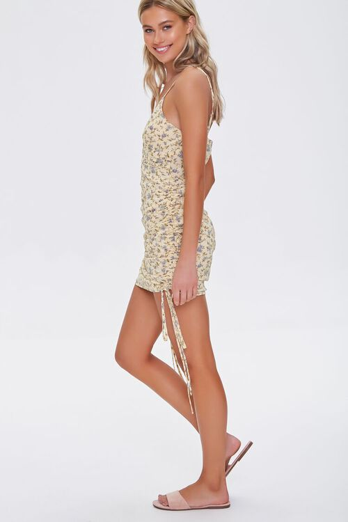 Floral Ruched Mini Dress, image 2