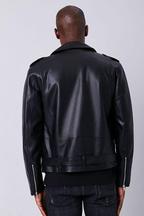 Faux Leather Moto Jacket, image 3