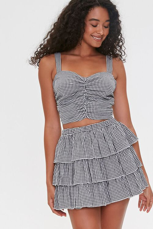Gingham Tiered Skirt, image 1