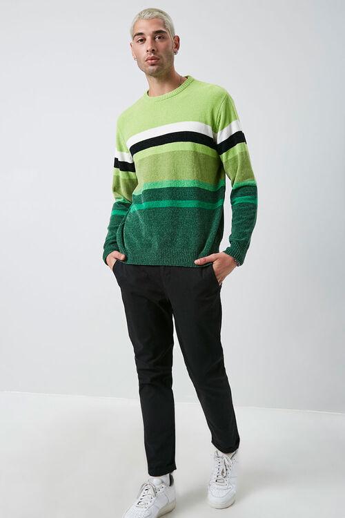 Chenille Striped Crew Neck Sweater, image 4