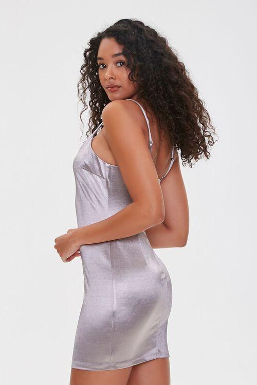 SILVER Metallic Cami Mini Dress, image 2