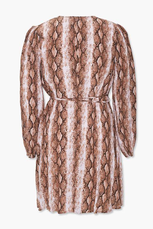 Plus Size Faux Snakeskin Wrap Dress, image 3