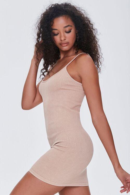 TAUPE Seamless Ribbed Cami Mini Dress, image 2