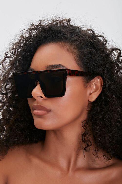 Tortoiseshell Shield Sunglasses, image 1