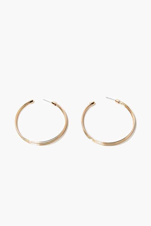 GOLD Textured Hoop Earrings, image 1