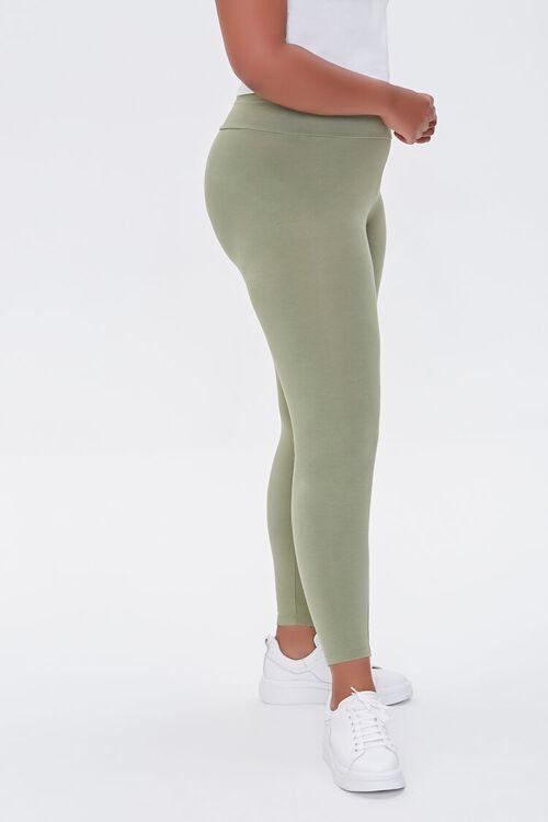 OLIVE Plus Size Basic Organically Grown Cotton Leggings, image 3
