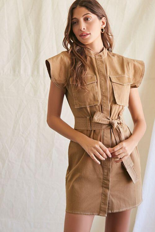 Tie-Waist Mini Dress, image 1