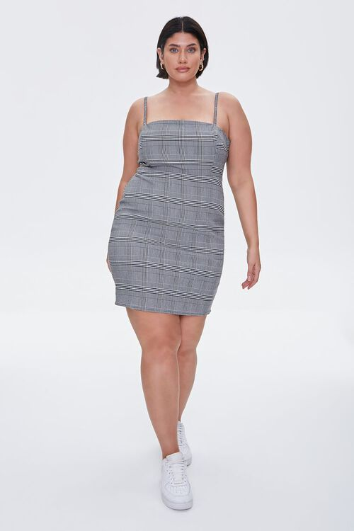 Plus Size Plaid Cami Mini Dress, image 4