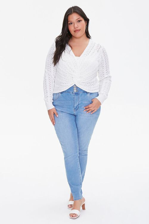 Plus Size Twisted Sweater-Knit Top, image 4