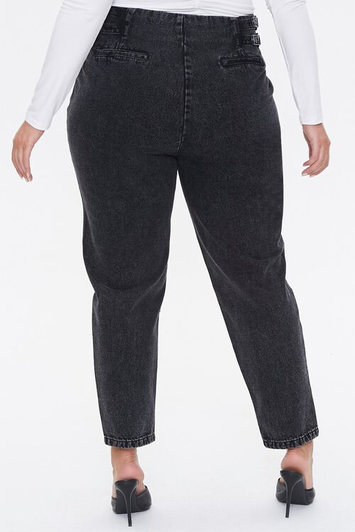 Plus Size Buckled Straight-Leg Jeans, image 4