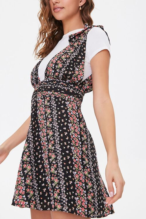 Floral Plunging Self-Tie Dress, image 2