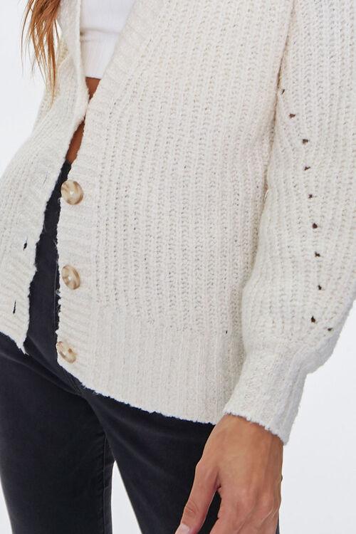 Balloon-Sleeve Cardigan Sweater, image 5