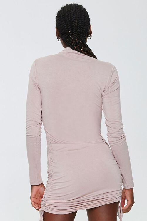 Ruched Drawstring Mini Dress, image 3