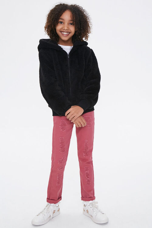 Girls Hooded Teddy Coat (Kids), image 4