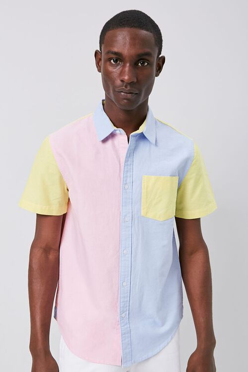 Colorblock Fitted Pocket Shirt, image 1