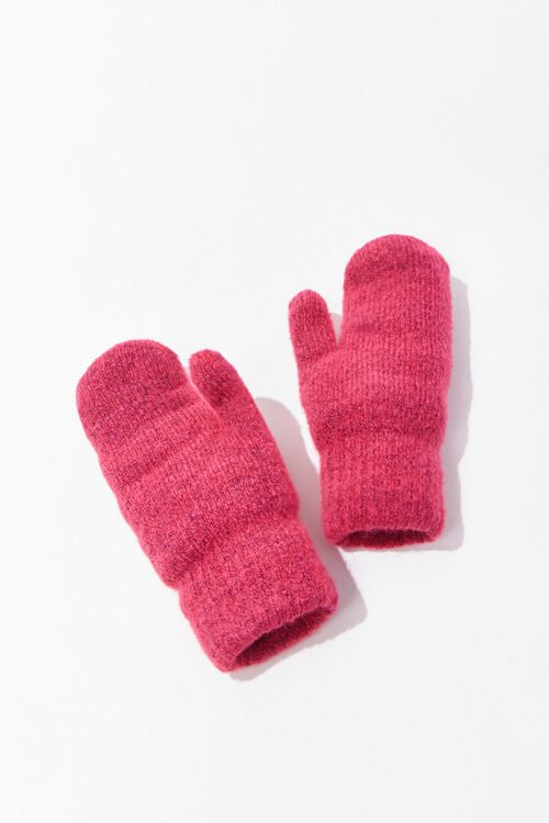 Ribbed Knit Mittens, image 1