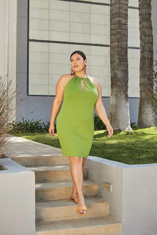 Plus Size Halter Mini Dress, image 1