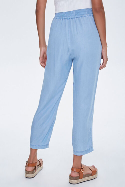 Chambray Tie-Waist Ankle Pants, image 4