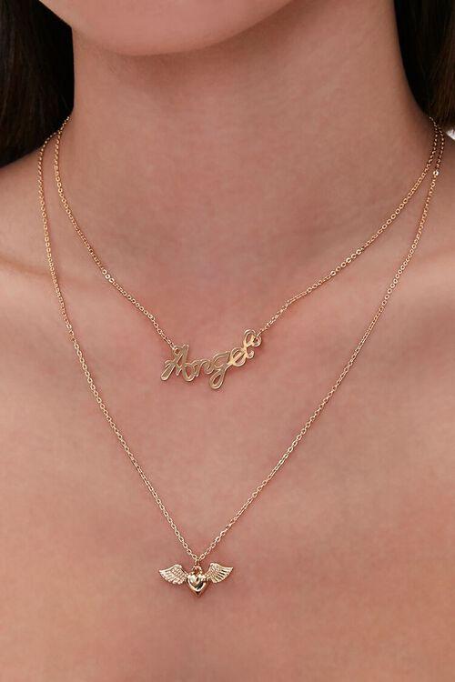 Angel Pendant Layered Necklace, image 1