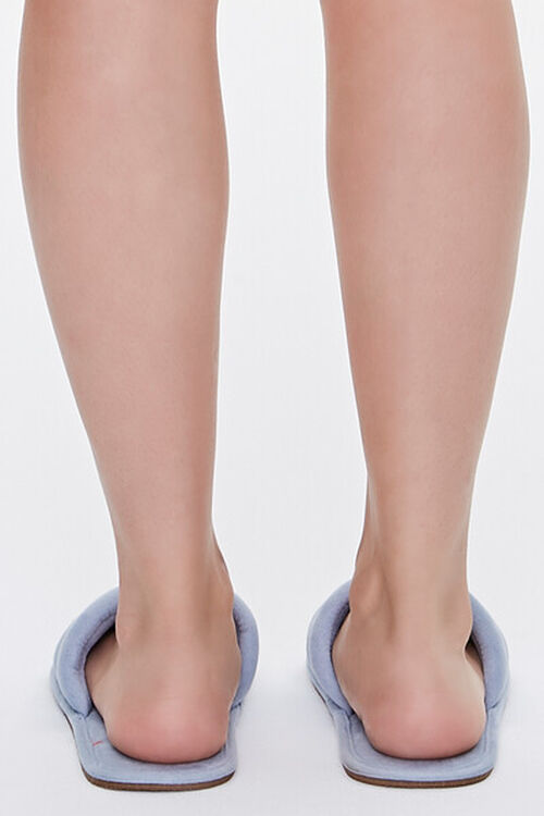 Faux Suede Quilted Slippers, image 3