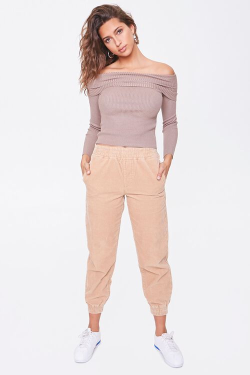 Ribbed Off-the-Shoulder Sweater, image 4