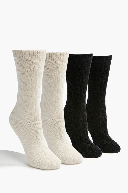 Cable Knit Crew Socks Set, image 1